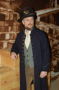 "CWM Theater character Patrick Sullivan, a member of the famous ""Iron Brigade."""